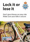 NYP13-0065 - Poster: Lock it or lose it - Cycle security